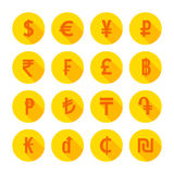 Money icons set. Vector illustration Stock Photography