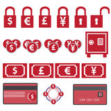 Money icons Royalty Free Stock Images