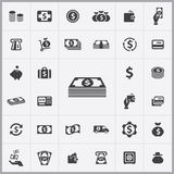 Money icons universal set. For web and mobile Royalty Free Stock Image