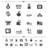 Money icons vector Stock Photography