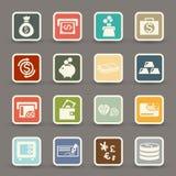 Money icons vector Stock Photo