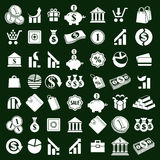 Money icons vector set, finance theme simplistic symbols vector. Collections Stock Image