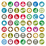 Money icons vector set, finance theme symbols Royalty Free Stock Image
