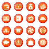 Money icons vector set Royalty Free Stock Image