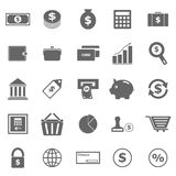 Money icons on white background Stock Photography