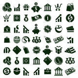 Money icons  on white background vector set, finance the. Me simplistic symbols vector collections Stock Photography