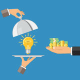 Money for idea Stock Images