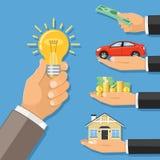 Money for idea Royalty Free Stock Image