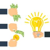 Money for idea Stock Photography