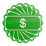 Money. Illustration of dollar banknotes Stock Image