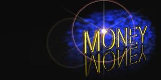 Money impact banner Stock Photography