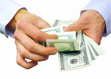 Money In Hands Royalty Free Stock Photo