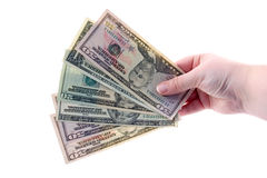 Money In Hands Isolated Stock Images