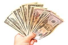 Money In Man Hand Royalty Free Stock Photo