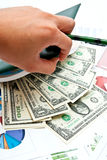 Money In Notebook Stock Images