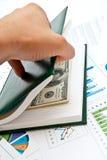 Money In Notebook Stock Photos
