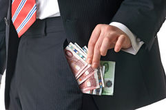 Money In Pocket Stock Photography