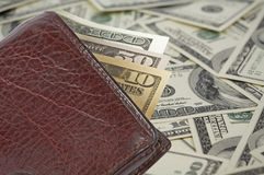 Money In Wallet Stock Photography