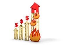 Money increase burns Stock Photography