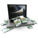 Money increase Royalty Free Stock Images
