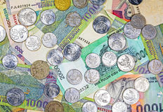 Money from Indonesia, rupiah banknotes and coins. Stock Photography