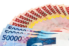 Money of Indonesian Rupiah Royalty Free Stock Photography