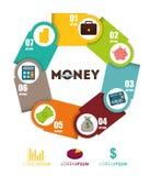 Money infographic design. Stock Photos