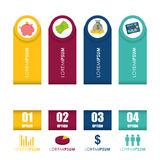 Money infographic design. Stock Photo