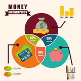 Money infographic design. Stock Images