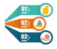 Money infographic design. Royalty Free Stock Photo