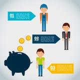 Money infographic Stock Image