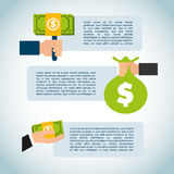 Money infographic Royalty Free Stock Images