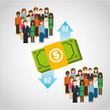 Money infographic stock illustration