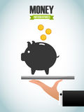 Money infographic. Design, vector illustration eps10 graphic Stock Photography