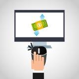 Money infographic. Design, vector illustration eps10 graphic Stock Photos