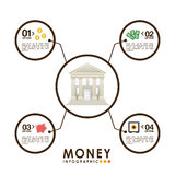 Money infographics Stock Image