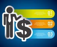 Money infographics Stock Photos
