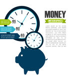 Money infographics Royalty Free Stock Photography