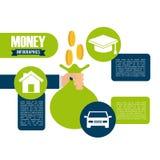 Money infographics Stock Images