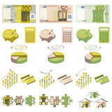 Money and infographics elements Royalty Free Stock Image