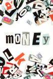 Money inscription Royalty Free Stock Photography