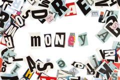 Money inscription, horizontal Royalty Free Stock Photo