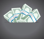 Money inside a pocket. illustration design Royalty Free Stock Photo