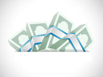 Money inside a pocket. illustration design Stock Photography
