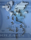 Money. International Business  Some elements provided courtesy of NASA Royalty Free Stock Image