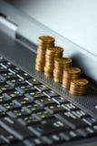 Money into internet Stock Image