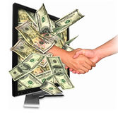 Money from Internet business. Internet business opportunity is more than your expectation Stock Photos
