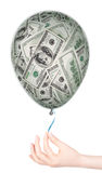 Money investment concept with balloon Royalty Free Stock Image
