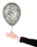 Money investment concept with balloon Royalty Free Stock Images