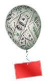 Money investment concept with balloon Stock Photography
